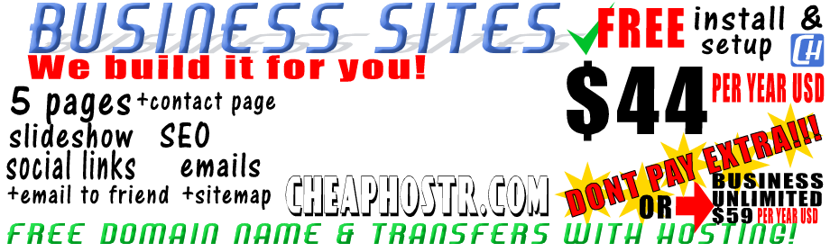cheaphost business hosting