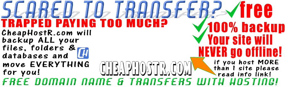cheaphost free transfers